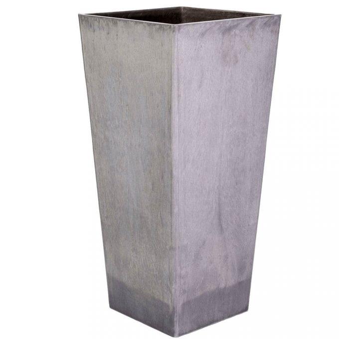 tall square plastic planter pot