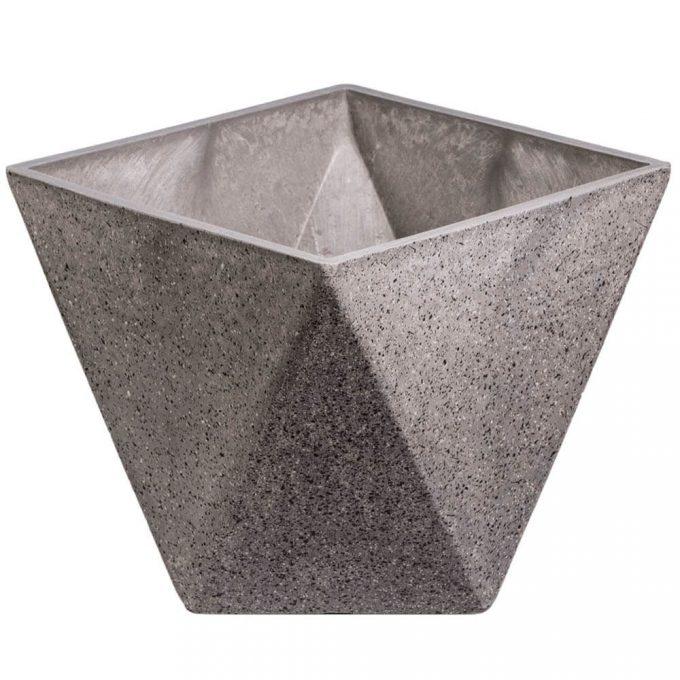 geometric plastic garden pot wholesale direct