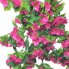 pink flowers / green leaves - artificial hanging bougainvillea plant