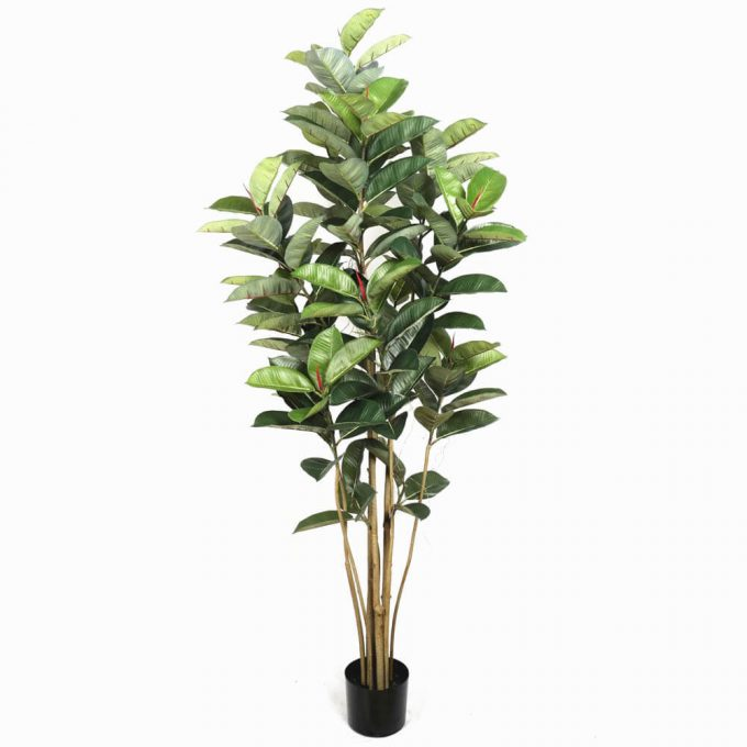 potted oak artificial tree