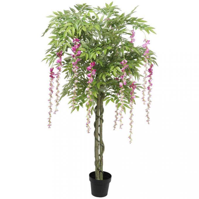 flowering artificial wisteria tree