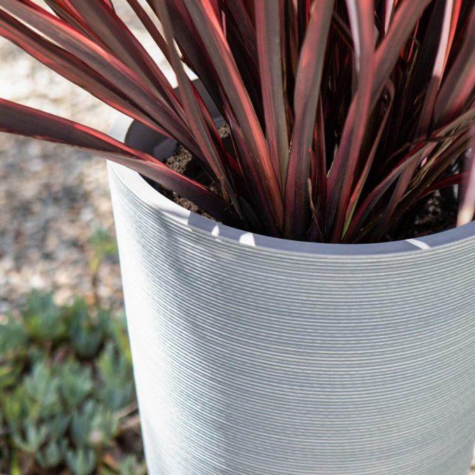 round grey pot - wholesale planters