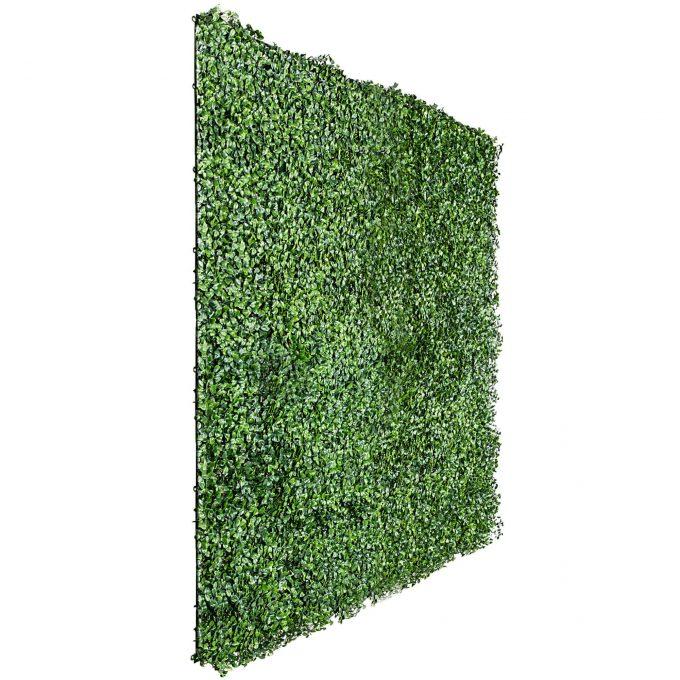 fake boxwood hedge panel