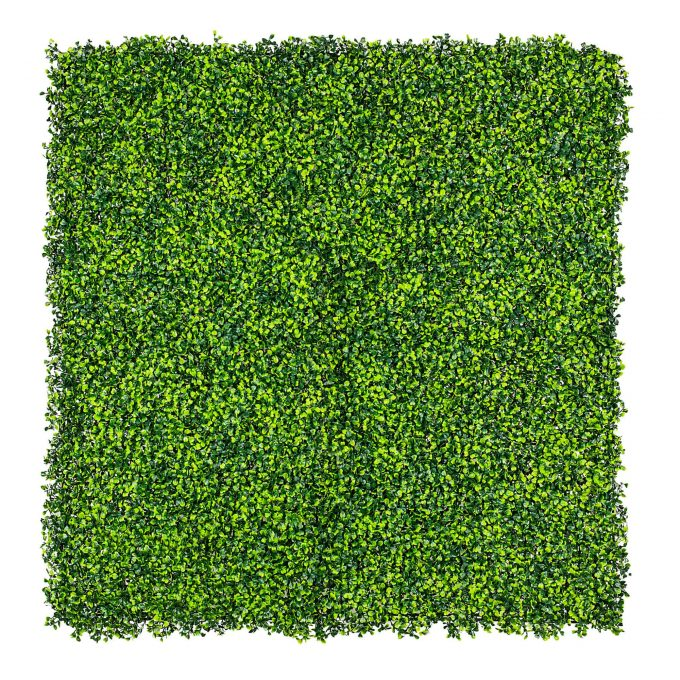 mixed artificial boxwood hedge panel