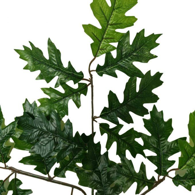 fake oak leaf close up
