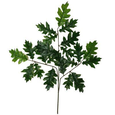 artificial oak leaves single branch