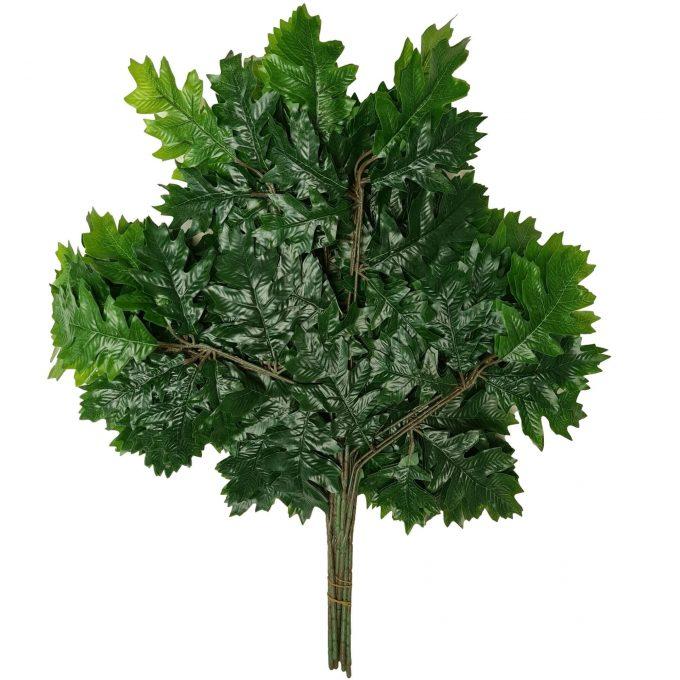 artificial oak leaves