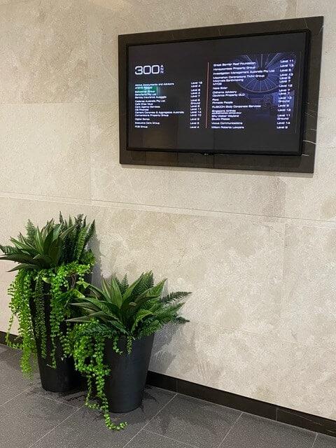 artificial potted plant arrangement
