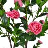 artificial camellia tree pink flowers