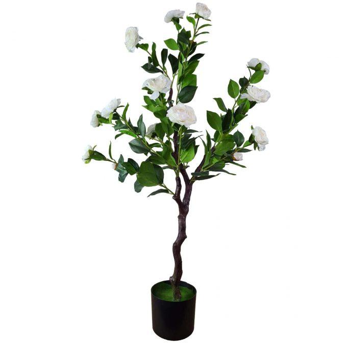 flowering white artificial camellia tree