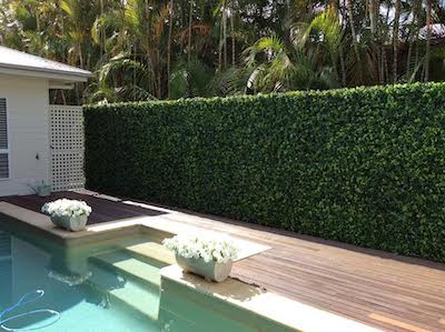 Artificial hedges are perfect for disguising fences and adding more privacy to your outdoor garden