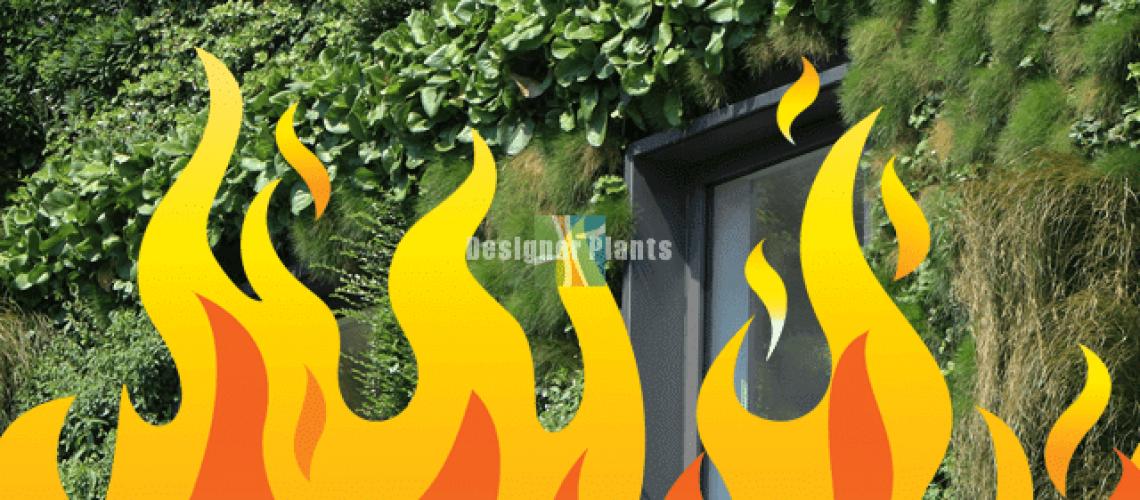 fire safe greenery panels